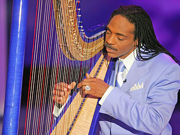 Classical harpist Jeff Majors