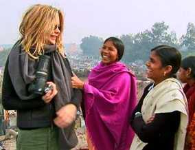 Meg Ryan in Jehangirpuri, India