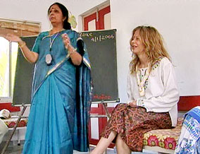 Meg Ryan at a CARE school in India