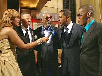 Terrance Howard, Morgan Freeman, Will Smith and Jamie Foxx