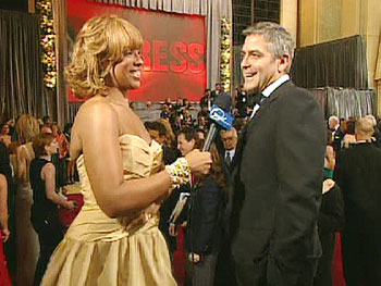Gayle King and George Clooney
