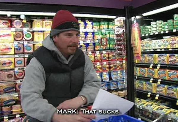 Mark at the grocery store