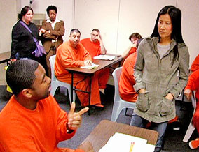 Lisa Ling with San Francisco inmates