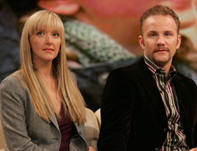 Morgan Spurlock and his fiancee