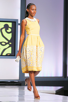 Yellow rustic linen dress