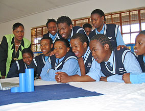 Mama Jackey and Ithuteng Trust students