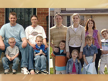 Carrie's family and Erin's family