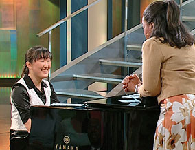 Jennifer Lin on the piano