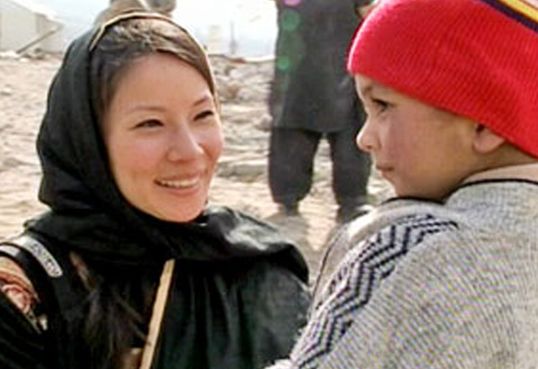 Lucy Liu in Pakistan