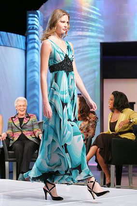 Blue and black gown by Missoni