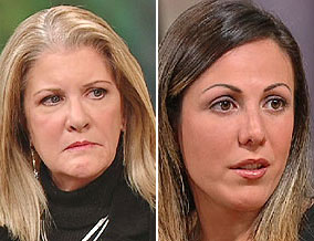 Amy Fisher in September 2004, and Mary Jo Buttafuoco in November 2005