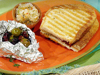 Rachael's Spanish Ham Cheese Melts and Hot Olives