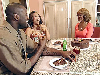 Gayle visits Shaquille O'Neal and his wife Shaunie