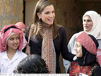 Queen Rania promotes girls' education around the world