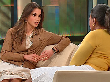 Queen Rania and Oprah