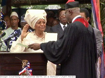 President Ellen Johnson-Sirleaf of Liberia