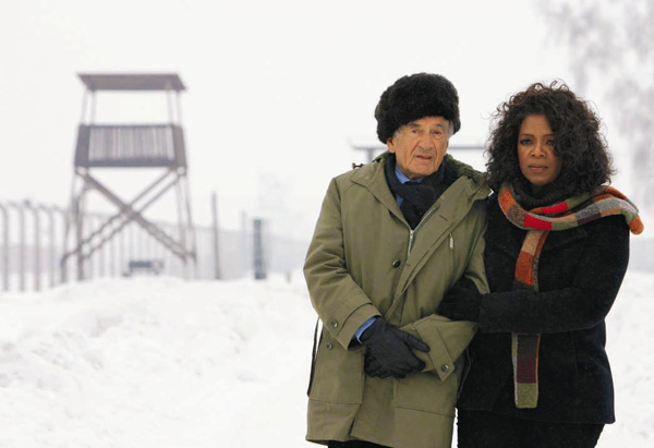 Elie Wiesel and Oprah Winfrey