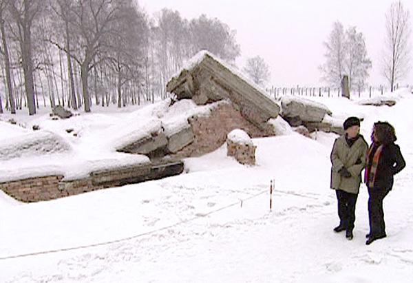 The site of an Auschwitz crematorium
