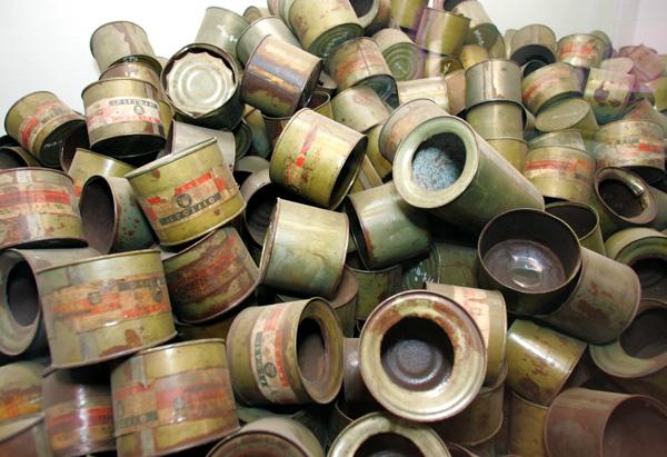 Zyklon B gas cans