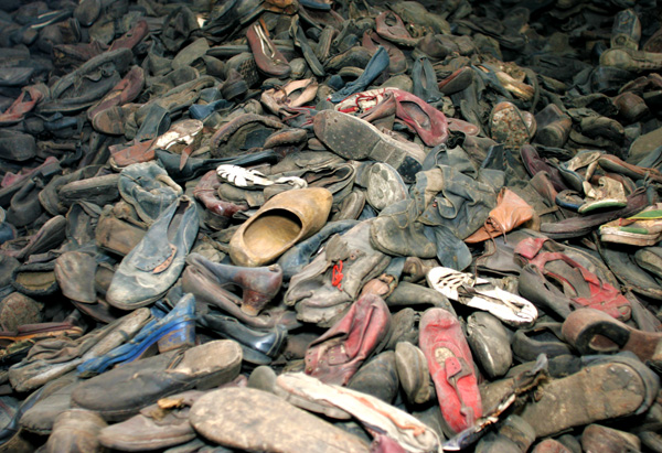 Mountains of shoes