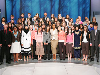 The winners of Oprah's National High School Essay Contest