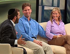 Rabbi Shmuley with Greg and Ruth Huron