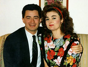 Jim and his first wife, Kari