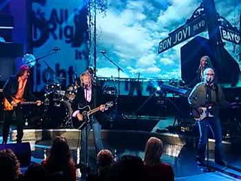 Bon Jovi performs.