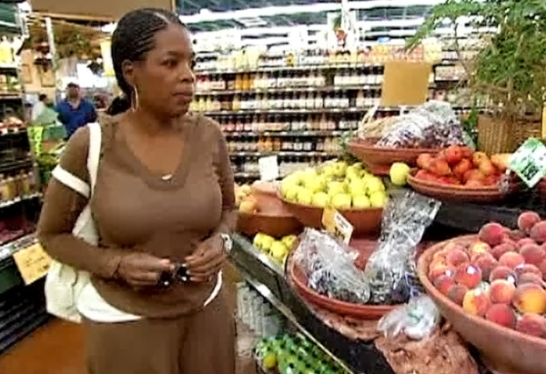 Oprah in a Sedona, Arizona, grocery store