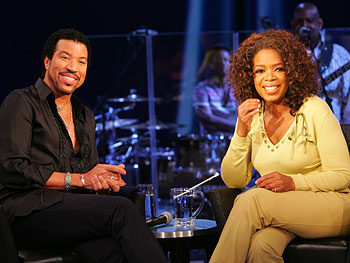 Lionel Richie and Oprah