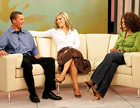 Joe, Chris and Oprah