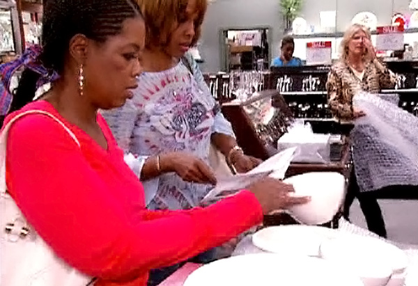 Oprah and Gayle shopping in Dillard's