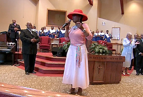 Oprah at St. James Missionary Baptist Church
