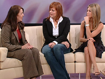 Colleen Goldbrick, Jennifer Aniston and Andrea Buchanan