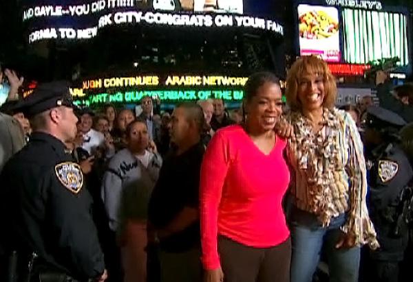The destination: Times Square