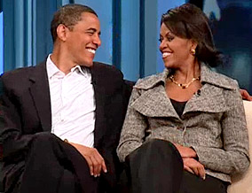 Barack and his wife Michelle