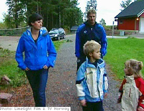 Trine Grung and her family in Norway