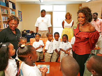 Oprah at the Kosciusko Boys and Girls Club