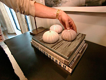 Nate Berkus displays books that spark interest.