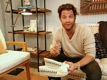 Nate Berkus's slippers from Greece