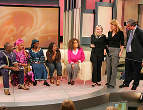 Sahr, Amina, Fina, Damba, Oprah, Veronica, Jill and Terry