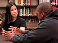 Lisa Ling and a student