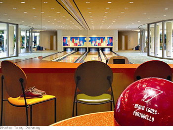 The Portabello bowling alley