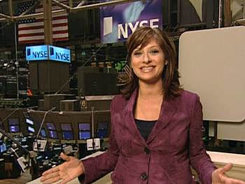 Maria Bartiromo at the New York Stock Exchange
