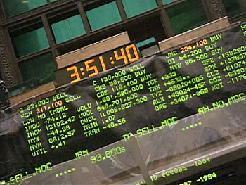 The New York Stock Exchange's big board