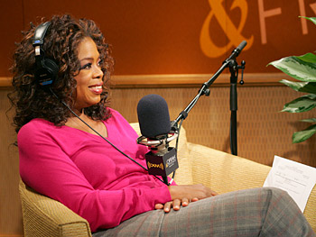 Oprah in the XM studio
