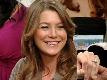 Ellen Pompeo and her engagement ring