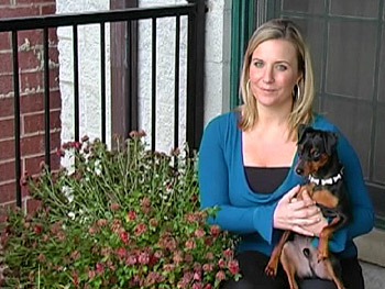 Stephanie and her dog, Billy