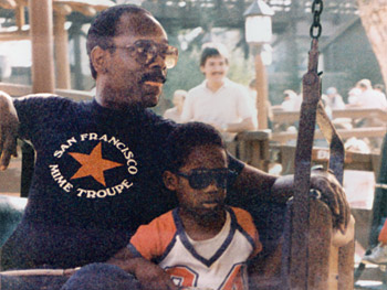 Chris Gardner and his son