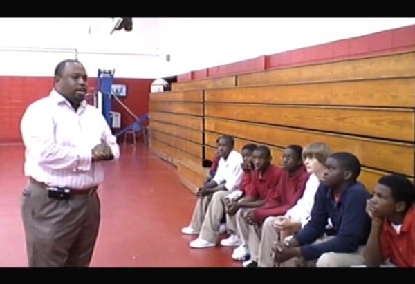 Anthony with the Colmer Middle School basketball team